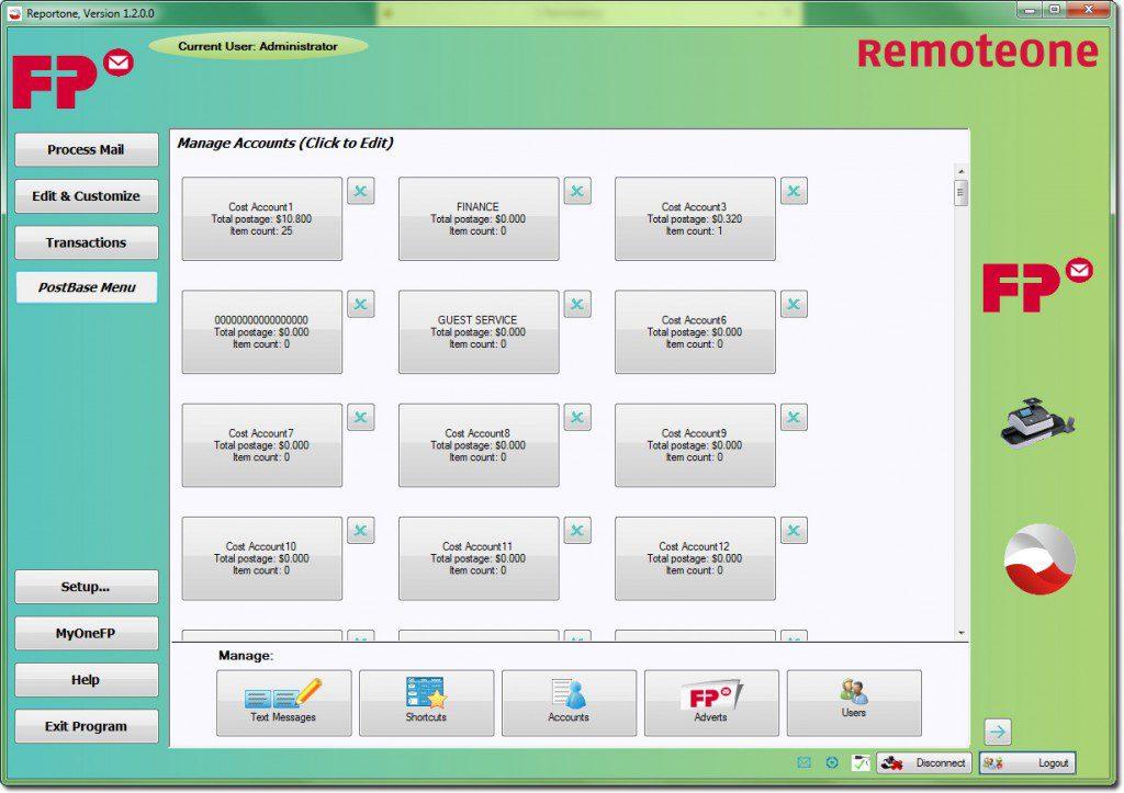 RemoteOne – Accounts Screen