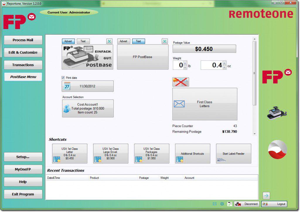 RemoteOne Main Screen