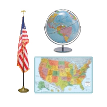 Maps, Flags and Globes