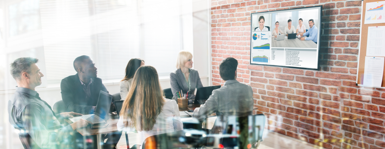 group video conferencing in office